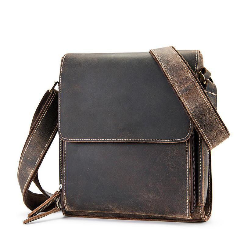 Мужская кожаная сумка, цвет коричневый, Bexhill bx3027