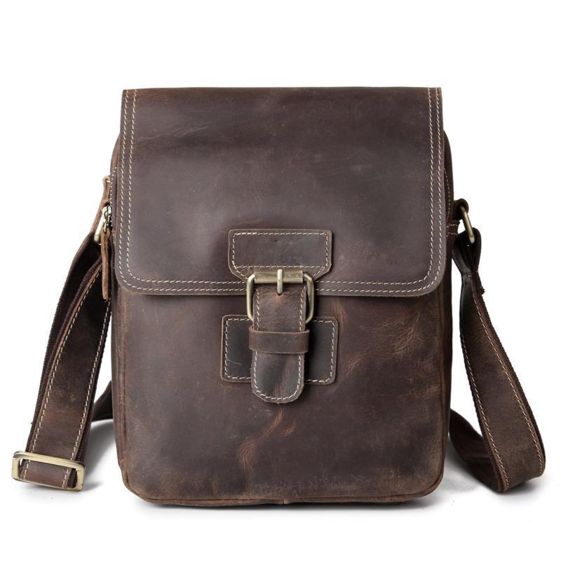 Оригинальная кожаная сумка через плечо, цвет коричневый, Bexhill bx3553