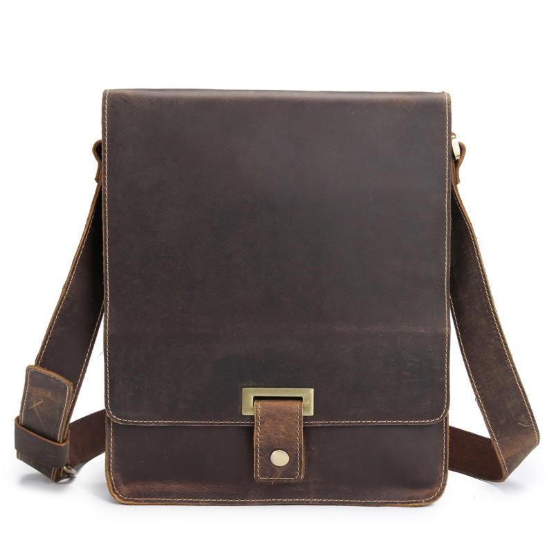 Фирменная кожаная сумка через плечо, цвет коричневый, Bexhill bx7055