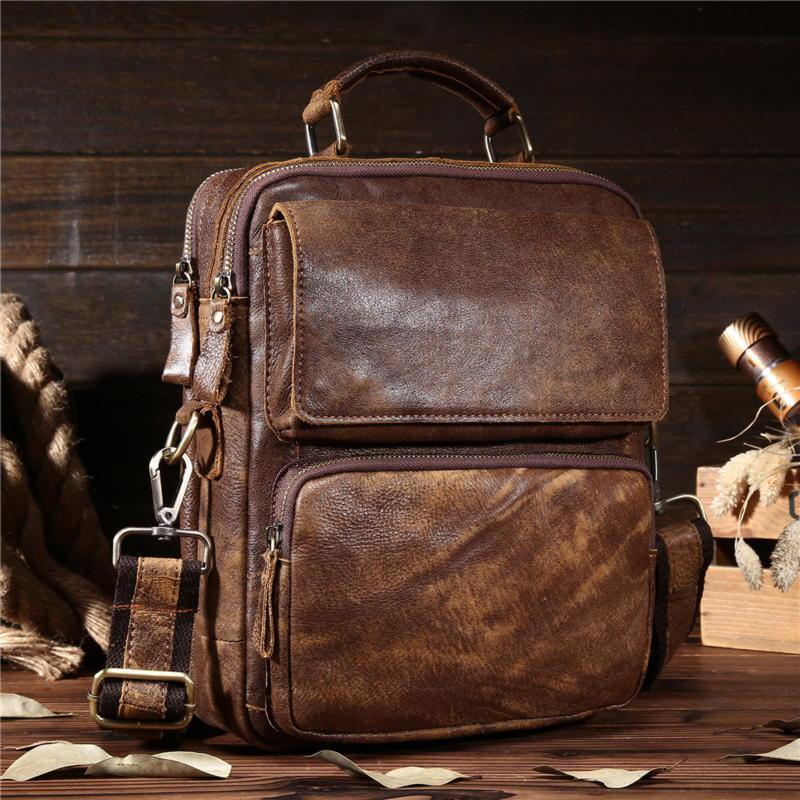 Оригинальная мужская сумка через плечо, цвет коричневый, Bexhill bx8795