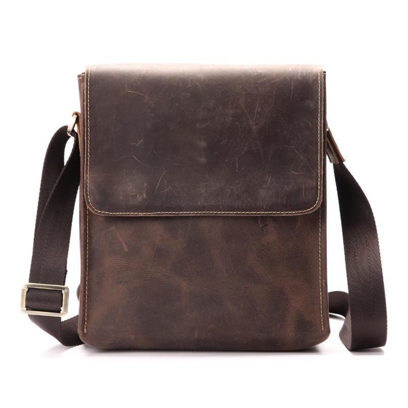 Оригинальная кожаная сумка через плечо, цвет коричневый, Bexhill bx9382