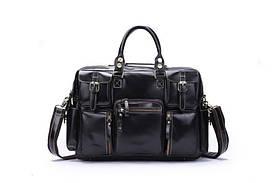 Стильная кожаная сумка, цвет черный, Bexhill 7028A