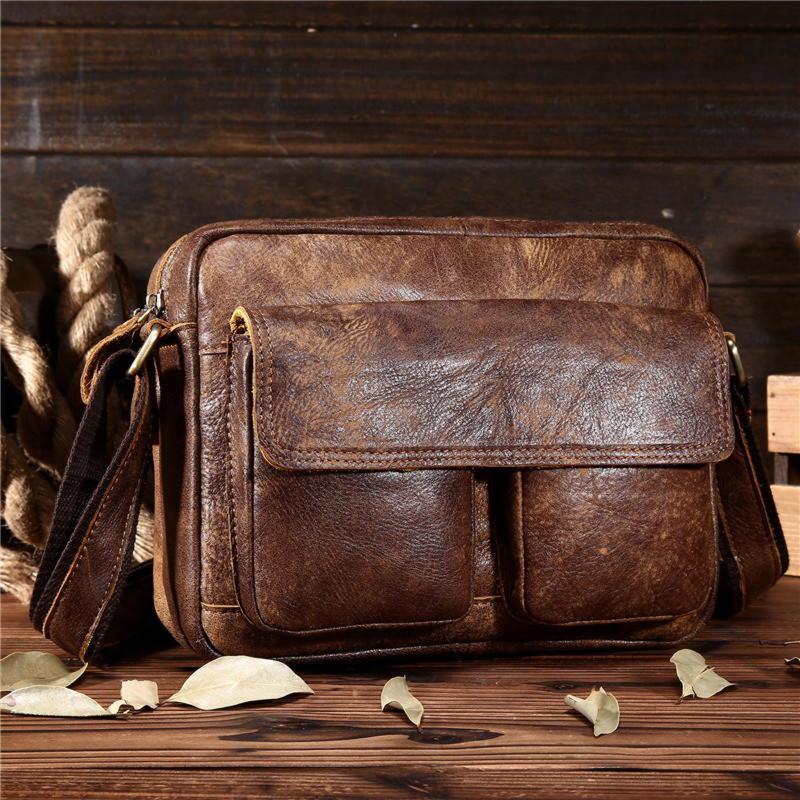 Стильная кожаная сумка, цвет коричневый, Bexhill bx8820