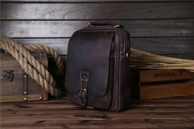 Чоловіча шкіряна сумка через плече, колір коричневий, Bexhill bx035bl