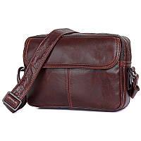 Стильная мужская сумка через плечо, коричневый цвет, John McDee, JD1026B