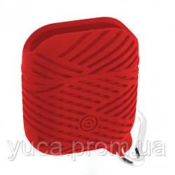 Футляр для наушников для APPLE Airpod Braids красный