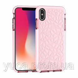 Чехол силиконовый для APPLE Iphone Xs Max TPU Prism розовый