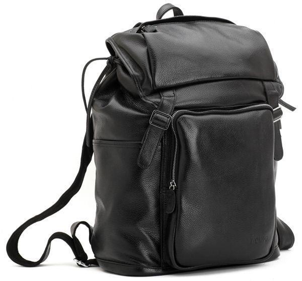 Вместительный кожаный рюкзак, черный, унисекс от Tiding Leather 3067
