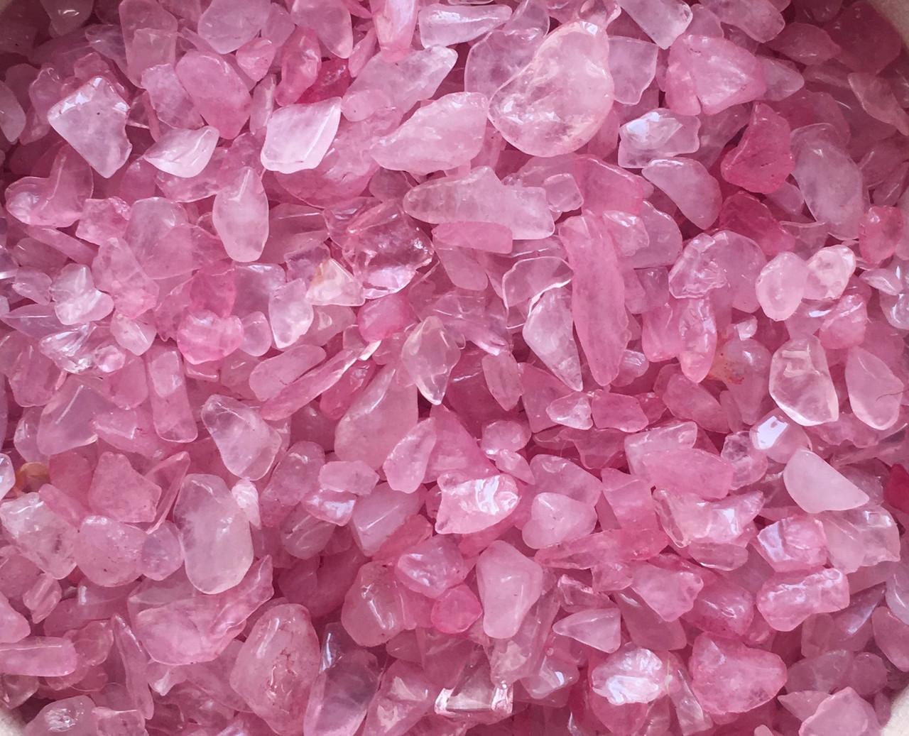 Натуральный камень крошка Розовый Кварц 3-5 мм (10 грамм)