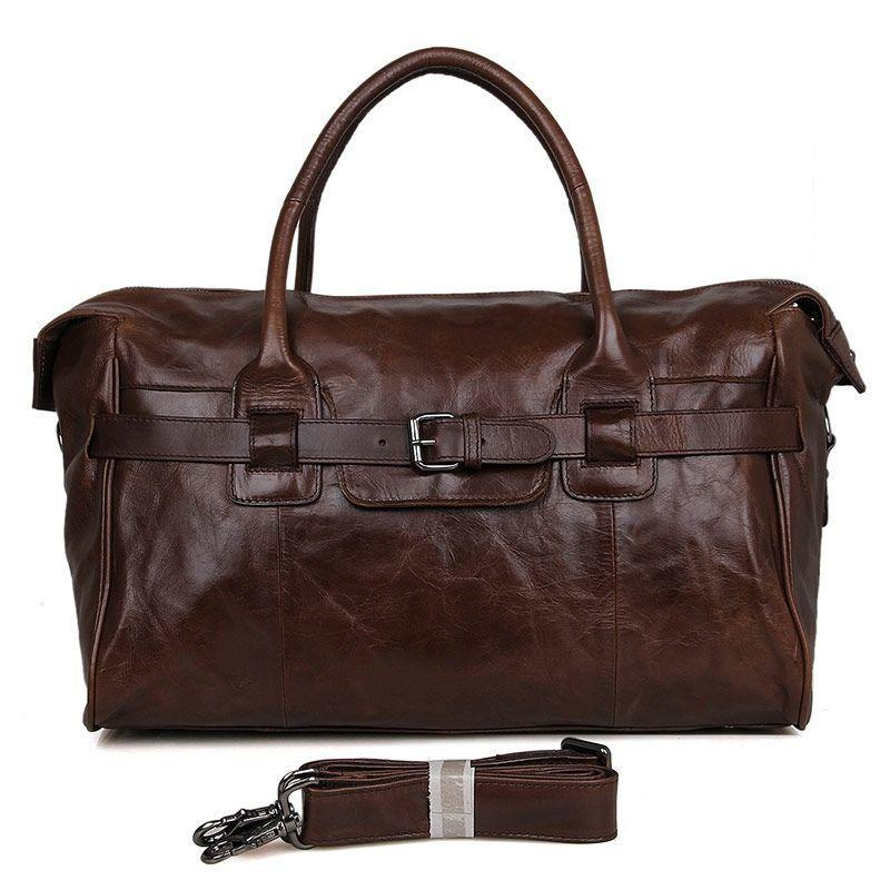 Большая кожаная сумка, телячья кожа, винтажная фактура 7079Q Vintage