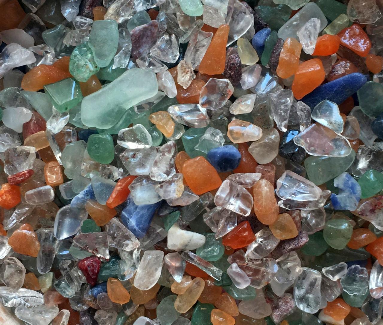 Натуральный камень крошка Микс 3-7 мм 10 грамм