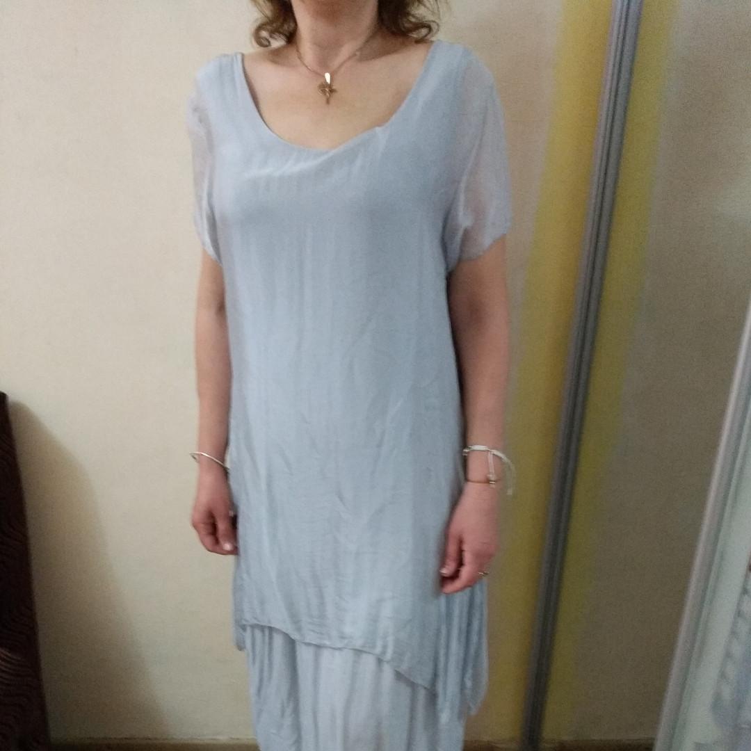 c5cc5916d907550 Платье из натурального шелка большие размеры Италия: продажа, цена в ...