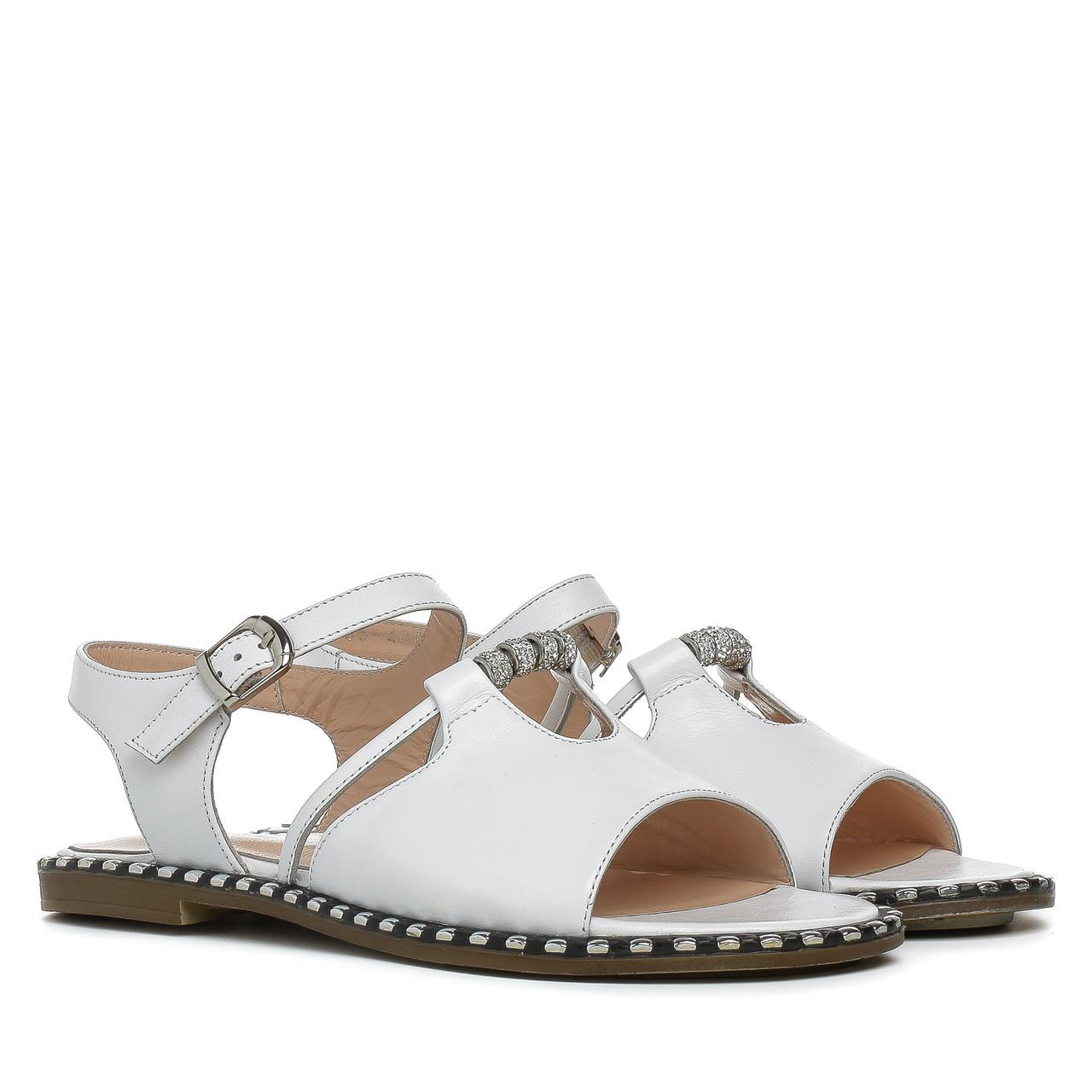 529851173 Купить Сандалии женские PHANY (кожаные, белые, легкие, качественные ...
