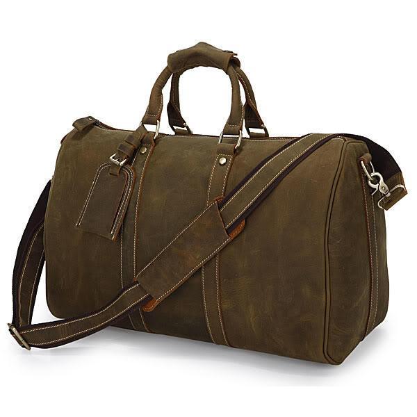 Кожаная дорожная сумка John McDee 7077R