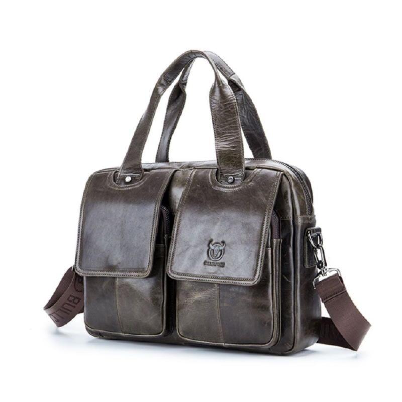 Стильная и удобная мужская сумка фирмы Bull T1403 серая