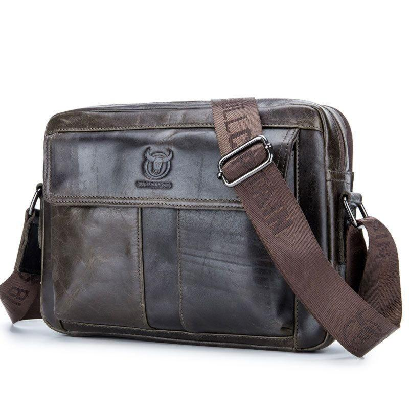 Мужская сумка через плечо кросс-боди Bull Bag T1402 серый