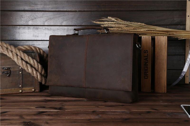 Кожаный мужской портфель, коричневый цвет, Bexhill bx2651