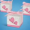 Бонбоньерки на свадьбу в виде розовой коробочки с сердечками