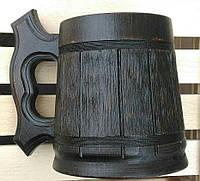 Пивной бокал тёмный из дерева 0,5л