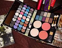 Набор для макияжа Палитра теней MAX MAR 01 в пенале матовые и перламутровые тени + пудры+румяна, фото 1