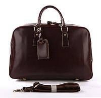 Большая удобная кожаная дорожная сумка, английский стиль коричневая Vintage  7156B