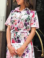 Красивое воздушное летнее платье 42 - 46 две расцветки, фото 1