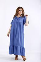 01183-2   Синее джинсовое платье