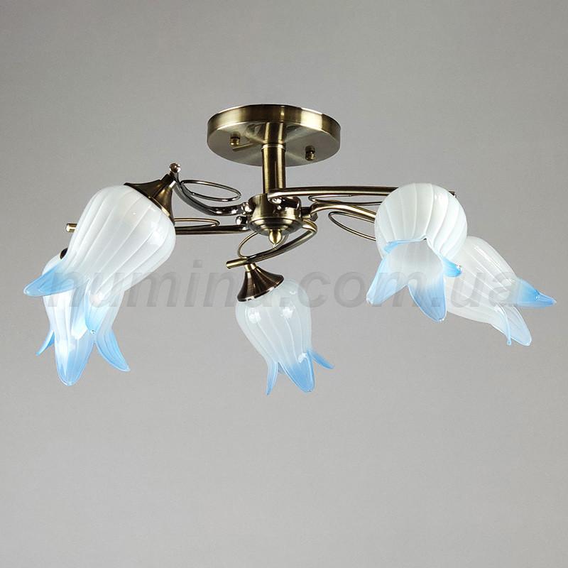 Люстра потолочная на пять ламп NL-7008/5 BL