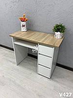 Маникюрный столик с усиленной столешницей. Модель V427 белый / дуб сонома, фото 1