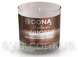 Массажная свеча DONA Kissable Massage Candle Chocolate Mousse (125 мл)