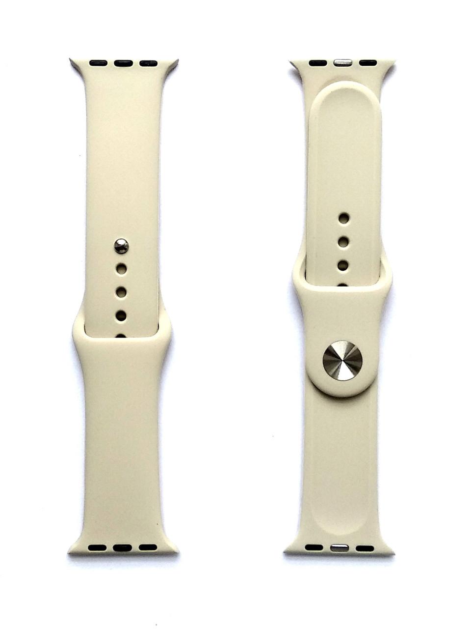 Силиконовый ремешок для Apple Watch Размер 38-40 (Слоновая кость)