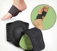 Подушечки (вкладыши) для продольного свода стопы, ортопедические стельки, черный цвет, комплект 2 шт.