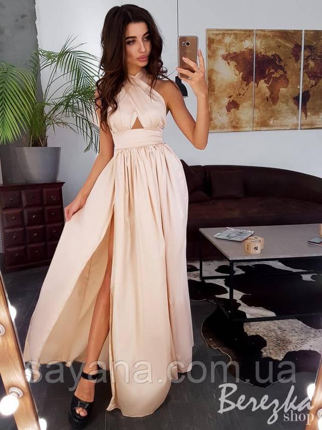 женское модное платье макси интернет
