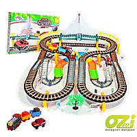 Детская железная дорога 2в1 Mini Cartoon 192 ел.