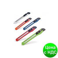 Нож канцелярский на ленте 9 мм микс цветов (1/12/120) CK-9