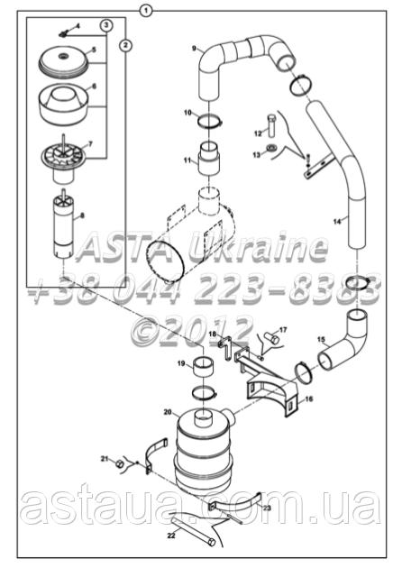 Воздушный фильтр предварительной очистки G2-2-3-ОП