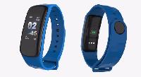 Фитнес трекер браслет C1plus, пульсомер,шагомер, умные часы (синий)