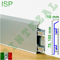 Алюминиевый плинтус для пола Progress PROSKIRTING ISP., фото 1
