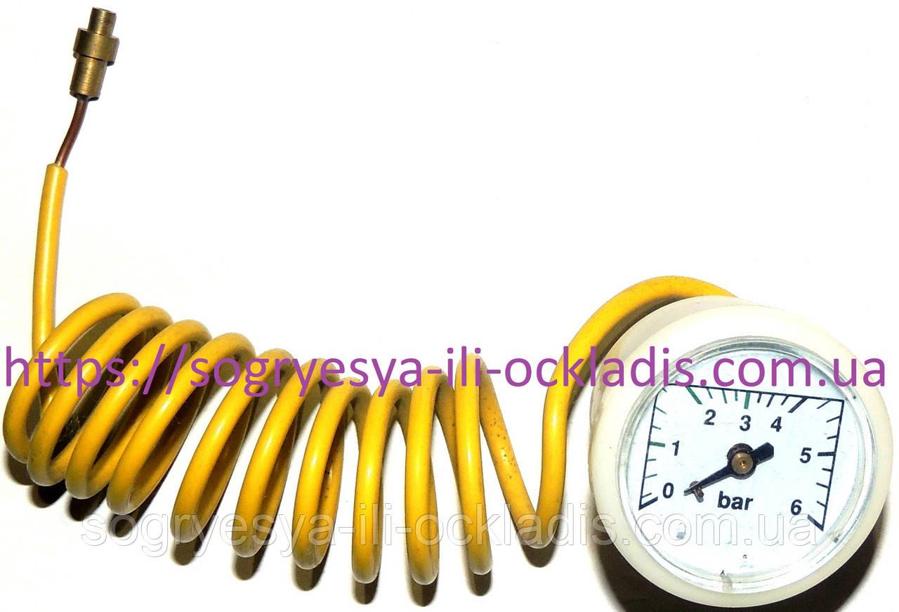 Манометр круглый 37 мм 0-4 Bar в сборе с трубкой (без фир/уп, Китай)Solly Standart, арт.4400100001, к.з.1862