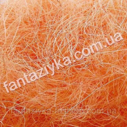 Натуральный сизаль 40г, персиковый