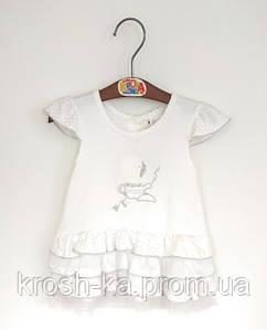 Платье для девочки белое(68)р Турция 9065