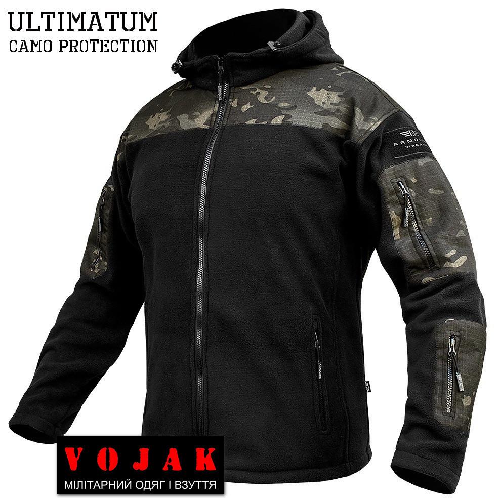 """Толстовка тактическая """"ULTIMATUM PRO"""" Multicam Black"""