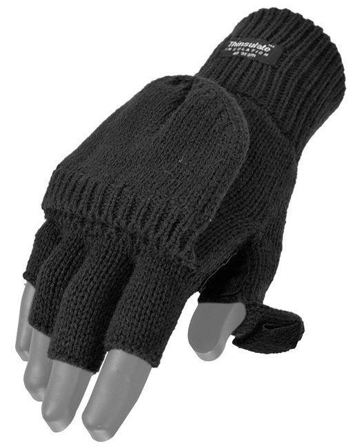 Акриловые перчатки-варежки Thinsulatе MilTec, Black 12545002