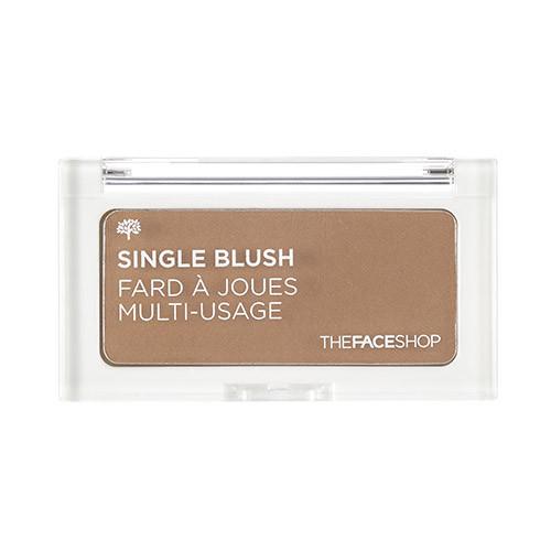 Компактные румяна-контуринг The Face Shop Single Blush Toast Brown 4g