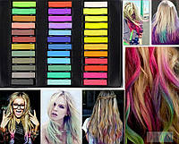 Цветные Мелки на 36 шт для временного окрашивания волос