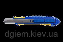 Нож унив. 9мм с рез. вставками, возвратным механизмом BUROMAX