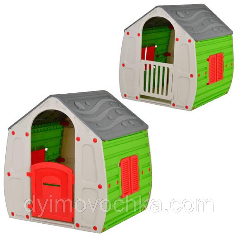Домик 10-561 детский, пластиковый, серо-зеленый