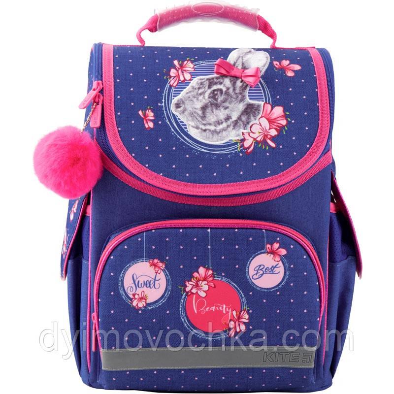 Рюкзак школьный каркасный Education Fluffy bunny 501-4Kite, 35х25х13 см