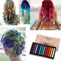 Цветные Мелки для временного окрашивания волос 12 шт , фото 1