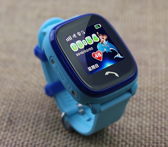 Дитячий Водонепроникний годинники з gps Q300S (Q100 aqua) блакитний